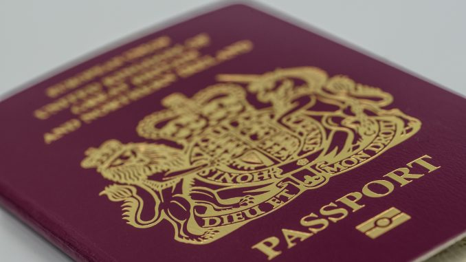 British passport for babies